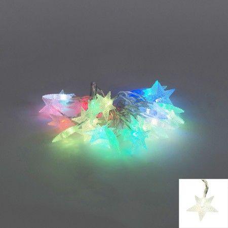 Stern Weihnachtsbeleuchtung.Weihnachtsbeleuchtung Lichtvorhang Stern 30 Farbige Led 4 Meter