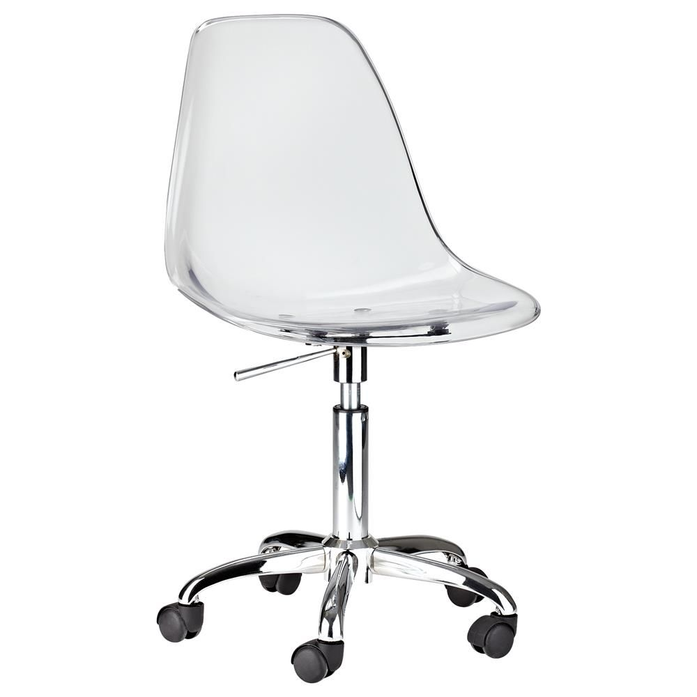 Ari desk chair atelier metropolitan clear acrylic office chair