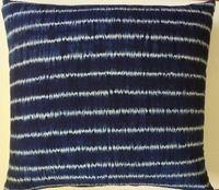 SH2  Japanese indigo blue shibori tie-dyed pillow cover