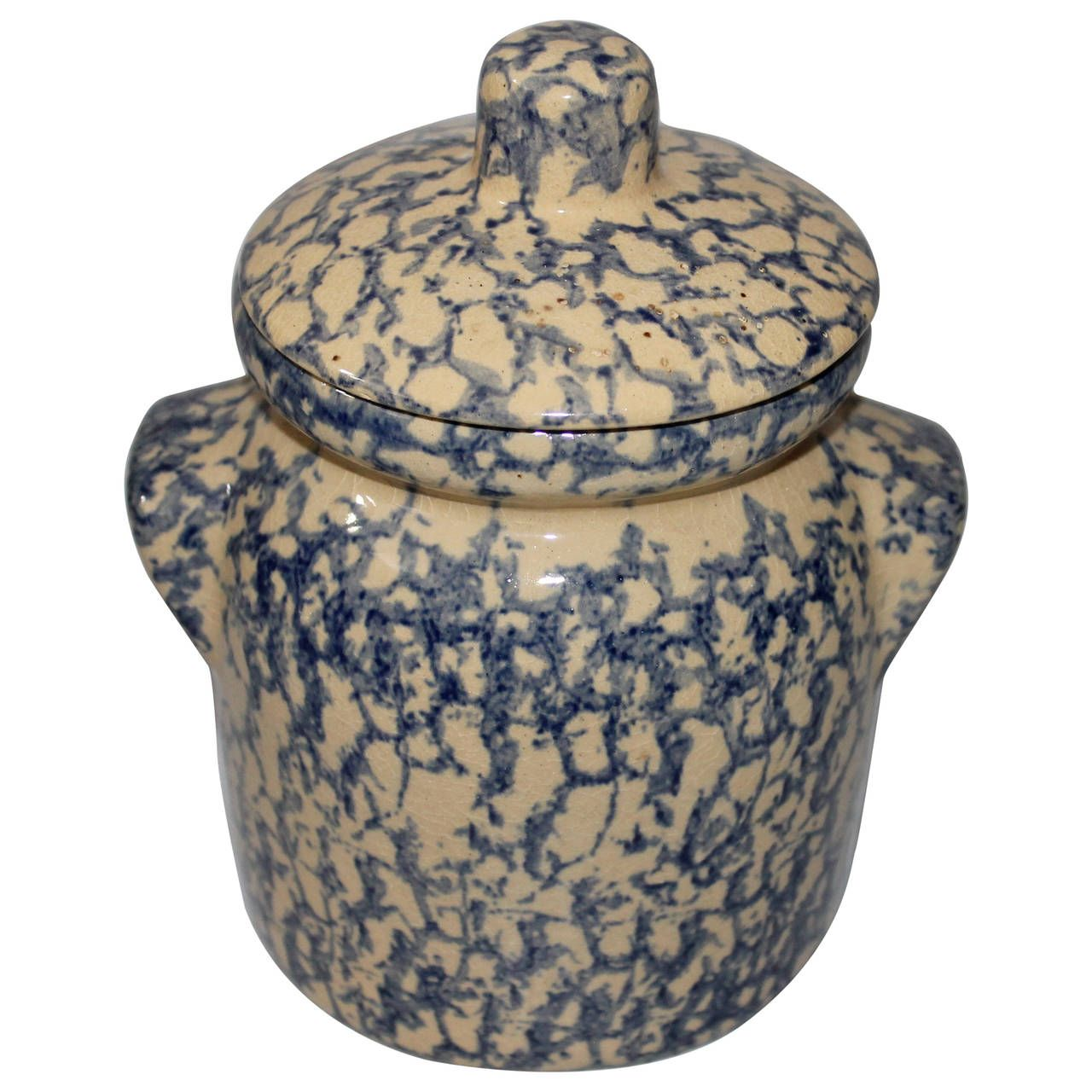 1stdibs Ceramic Spongeware Canister Jar Country American Ceramic In 2020 Jar Canisters Pottery