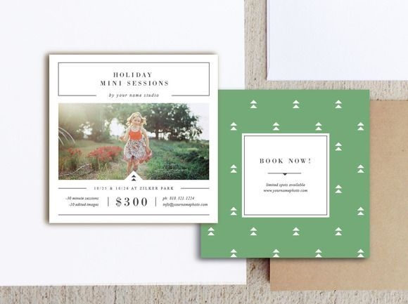 Holiday Mini Session Templates By Bittersweetdesignboutique On