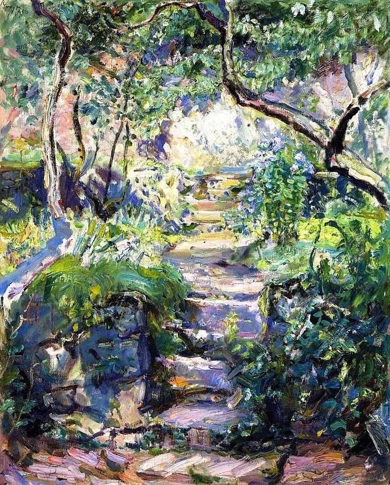 Garden Steps in Neukastel by Max Slevogt (German)