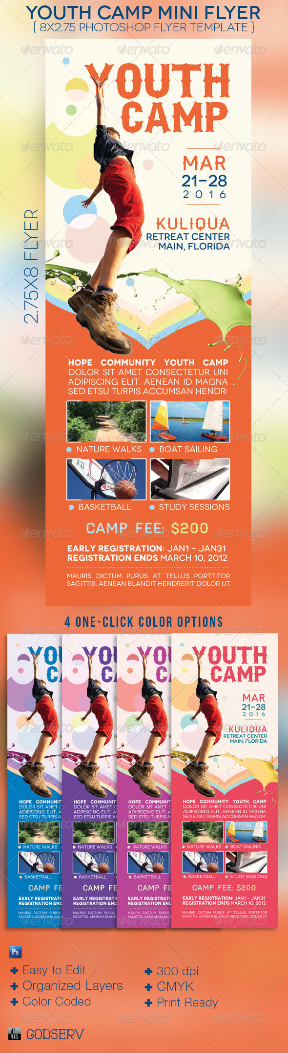 Youth Camp Mini Flyer Template By Michael Taylor Via Behance - Mini brochure template