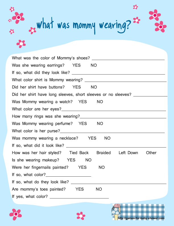 Free Baby Shower Games Ideas