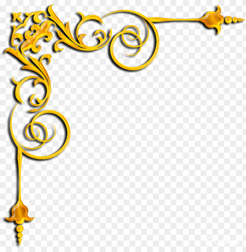 Gold Corner Png Png Image With Transparent Background Png Free Png Images Islamic Calligraphy Painting Free Png Png