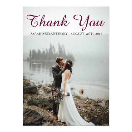 Custom Wedding Thank You Cards