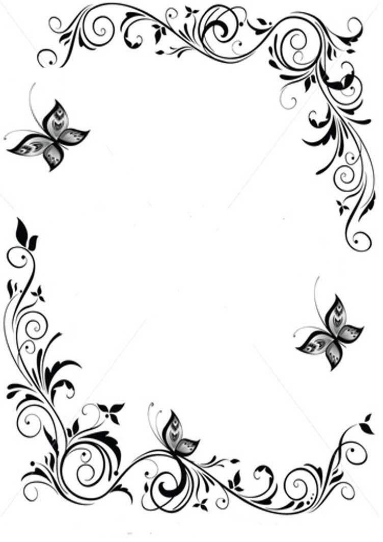 15 Cute Floral Border Embroidery Patterns Page Borders Design Clip Art Borders Border Design
