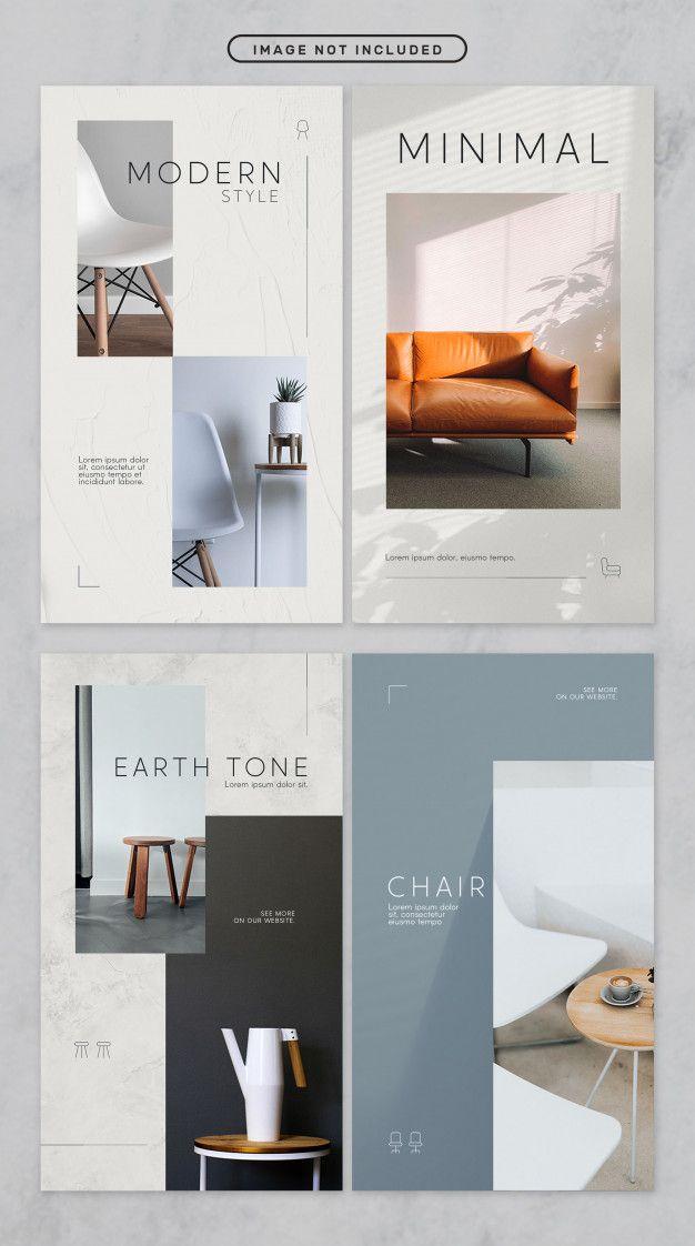 Social media story minimal furniture theme Premium Psd | Premium Psd #Freepik #psd #banner #cover #home #catalog