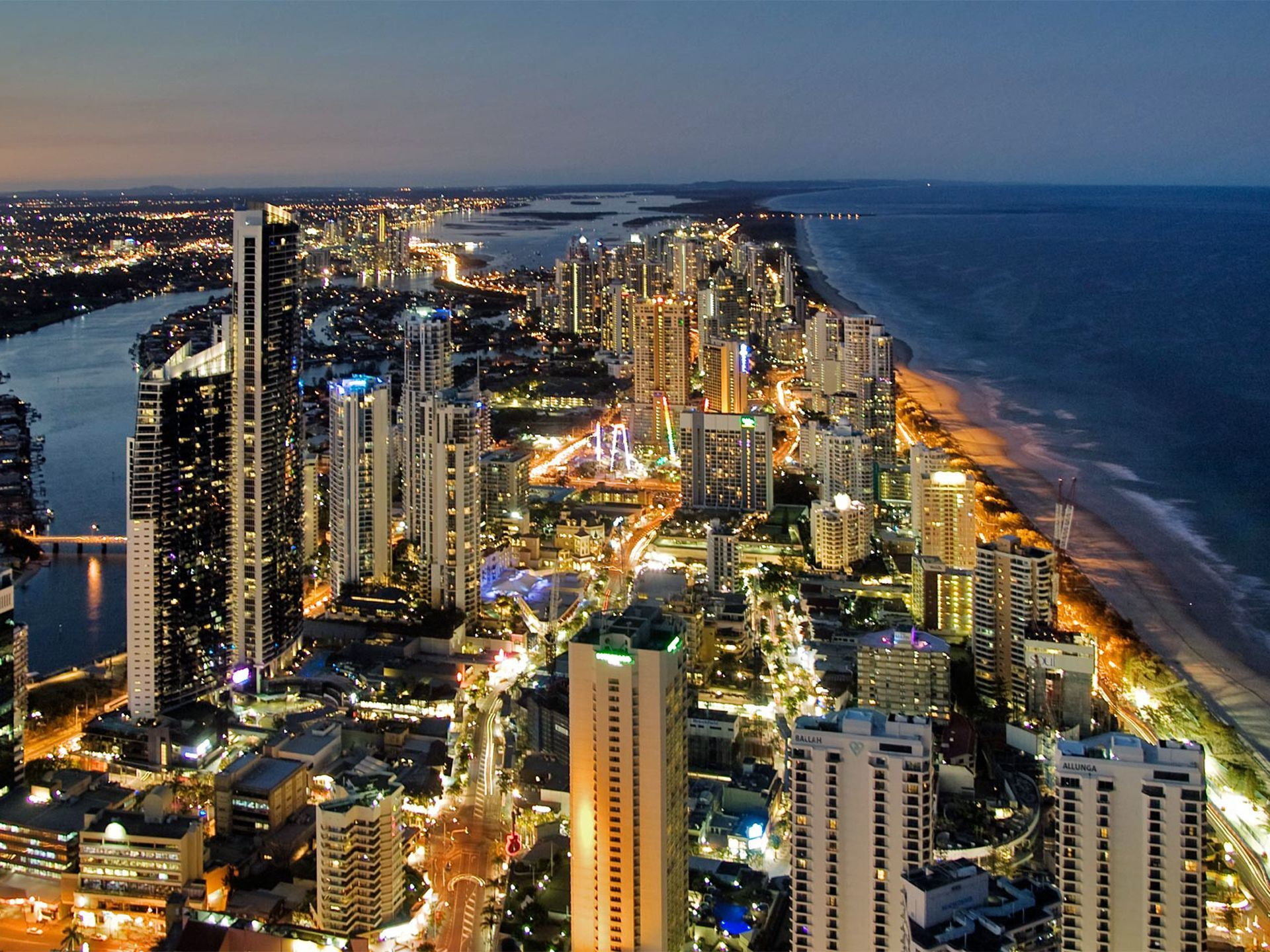 Night View Of Gold Coast City Australia Travel Queensland Cheapflightsaustralia