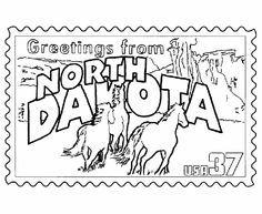 North Dakota Western Meadowlark Coloring Page Purple Kitty