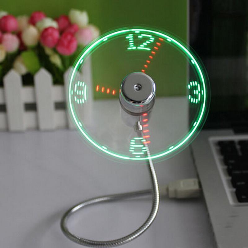 Mini USB Time LED Fan Clock
