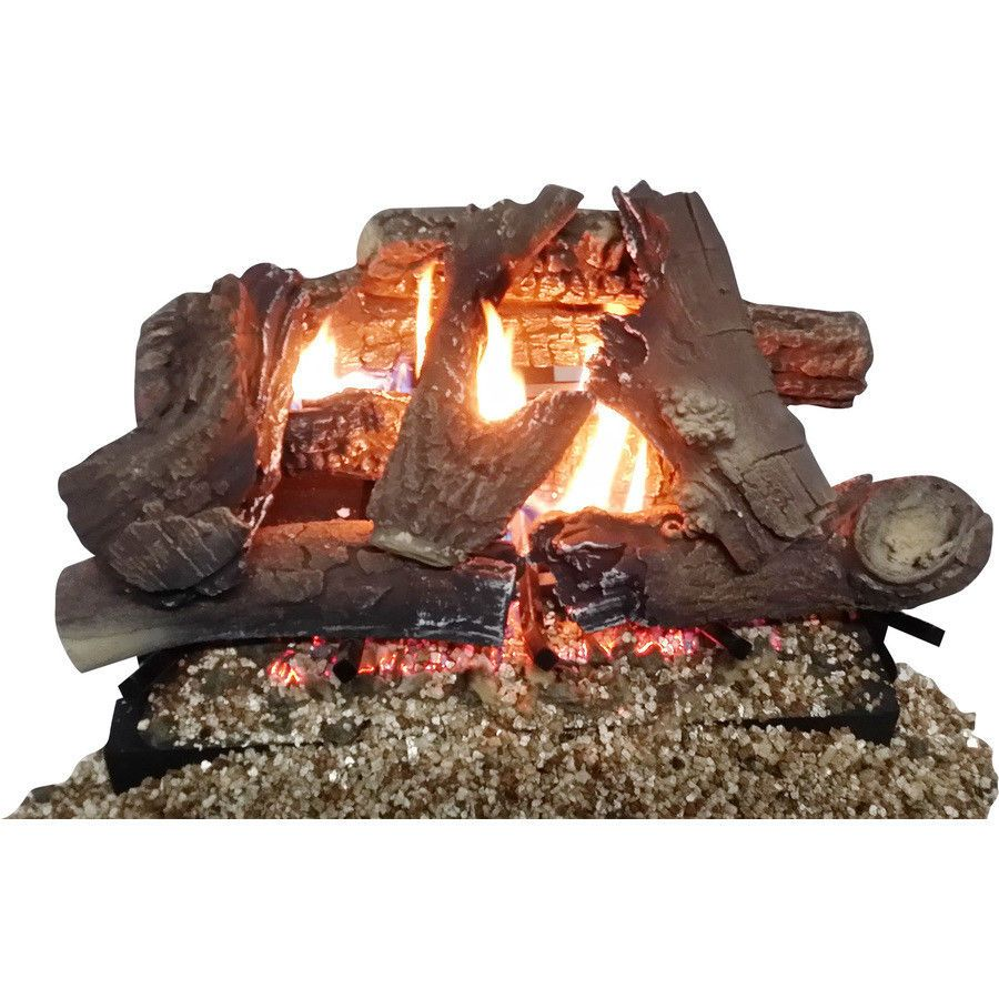 Thermablaster 18 Vent Free Gas Log Set Decorative Logs Stone And