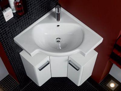 Zusatzlichen Stauraum Schafft Der Renova Nr 1 Comprimo Eck Waschtisch Mit Unterschrank Inn Eckwaschbecken Kleines Bad Waschbecken Modernes Badezimmerdesign