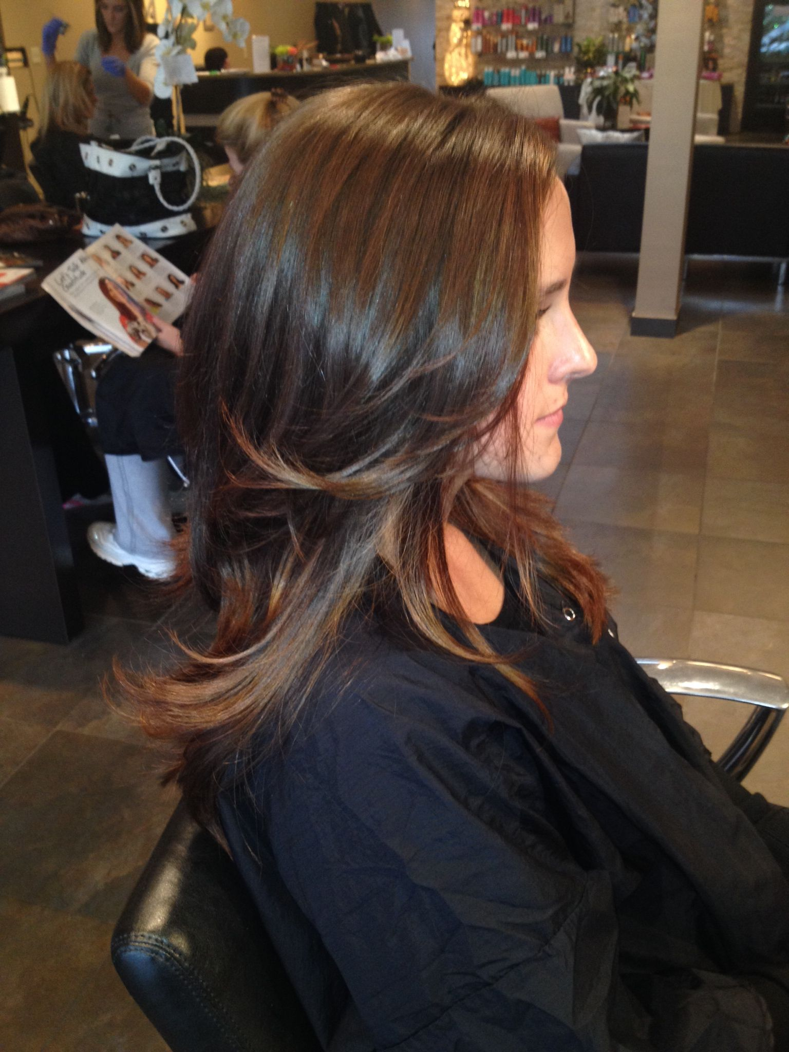 Redken Color Natural Highlights Balayage 7nb Shades Brunette With Toffee High Lights