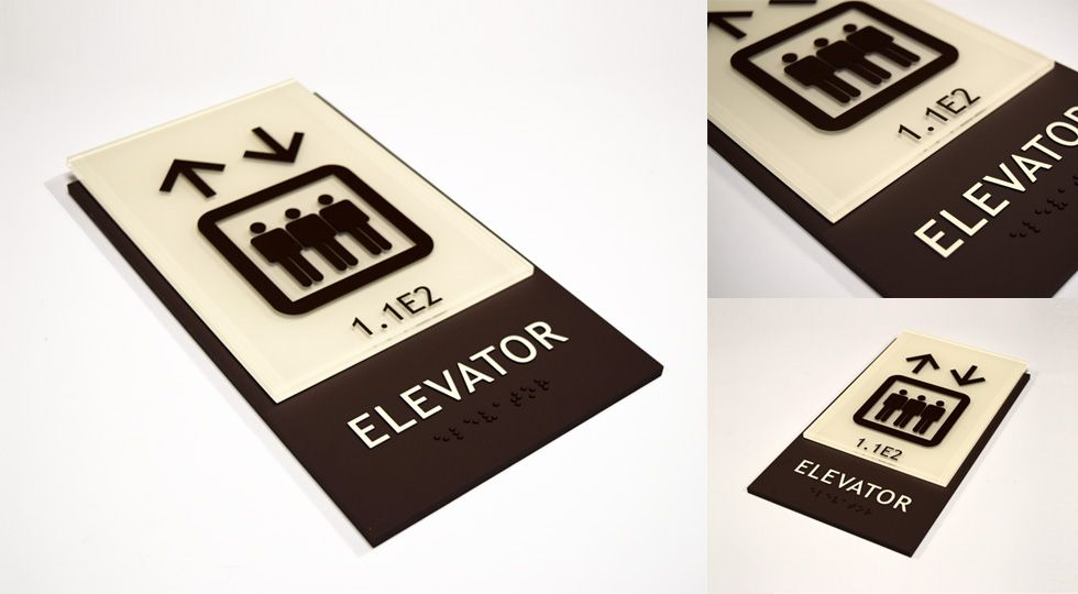 Capital Architectural Signs News Elevator Sign ADA Compliant For University Of Texas