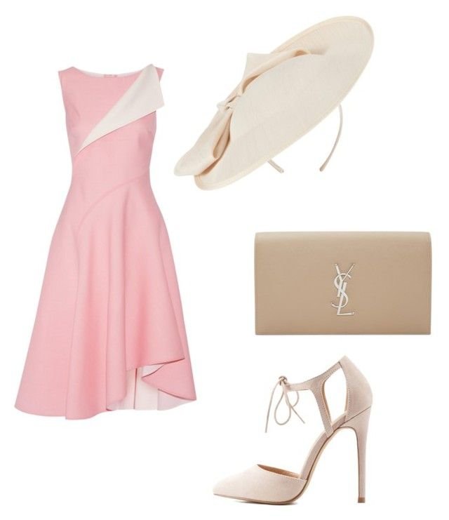 Untitled #42 by juliana-pereira-iii on Polyvore featuring polyvore fashion style Oscar de la Renta Charlotte Russe Yves Saint Laurent John Lewis clothing