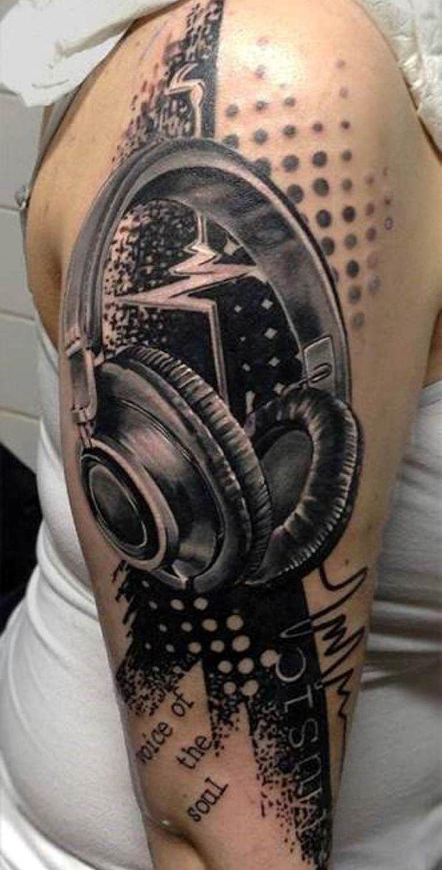 headphone tattoo tattoo things pinterest headphones