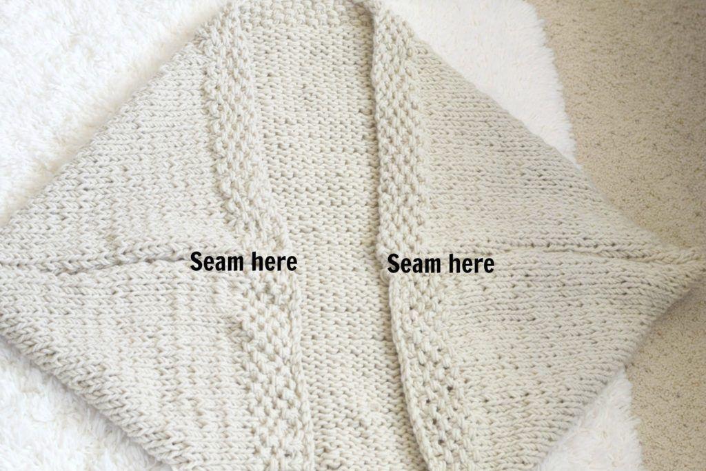 Easy Knit Blanket Sweater Pattern #blanketsweater