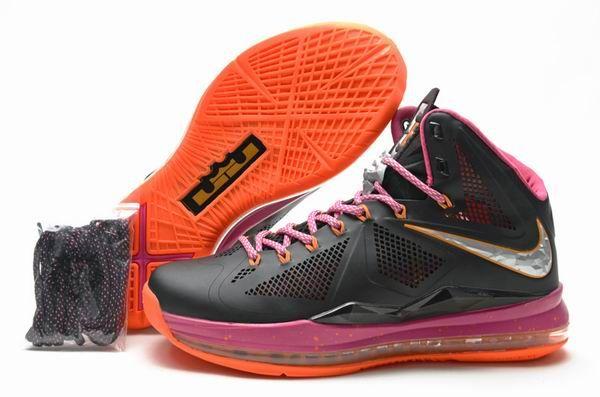 ce649dfcec92 Lebron 10 Orange Black Purple