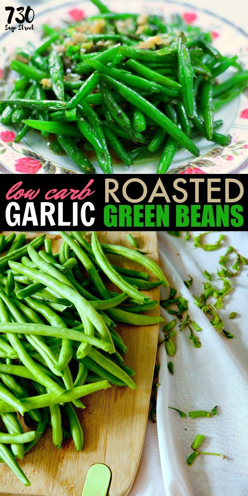 Green Beans This easy garlic green beans recipe makes a delicious low carb summer side dish.This easy garlic green beans recipe makes a delicious low carb summer side dish.