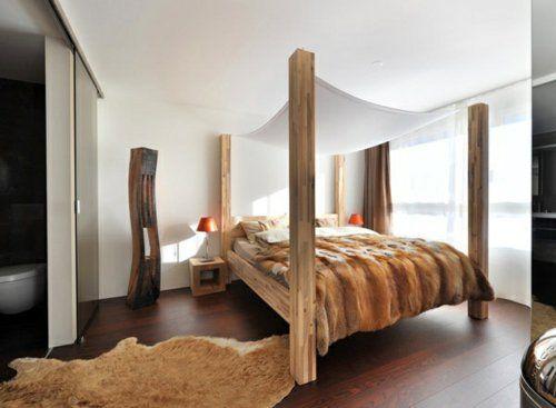 erstaunliche weiße Himmelbett Designs holz schlafzimmer massiv - schlafzimmer holz massiv