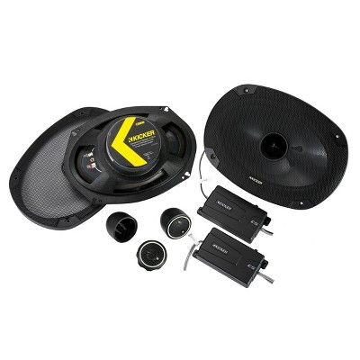 Kicker 46CSS694 CS-Series 6x9 2-Way Component Speakers, Black #componentspeakers