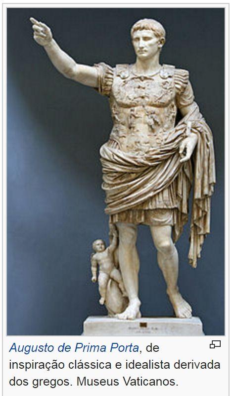 Arte Romana Augusto De Prima Porta Escultura Arte