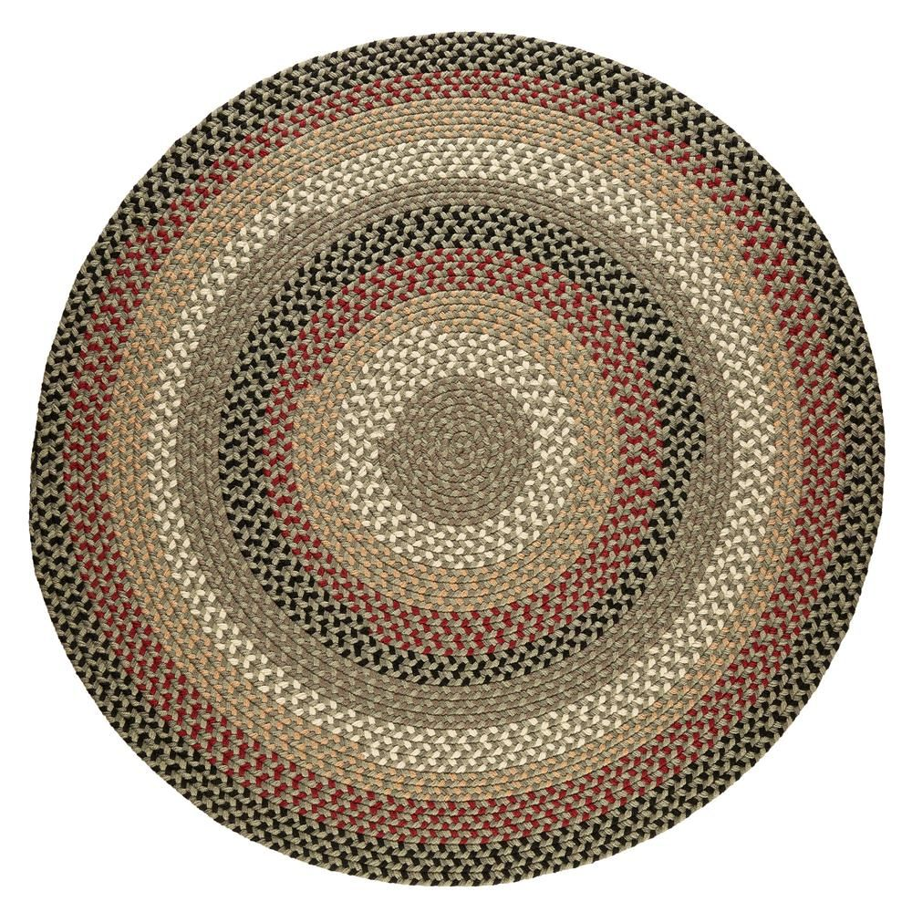 Rhody Rug Country Medley Forest Green 8 Ft X 8 Ft Round Indoor