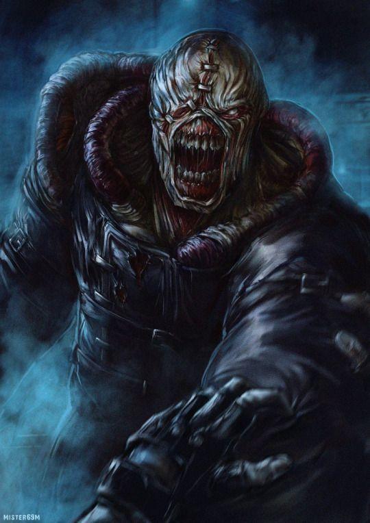 Nemesis Resident Evil 3 Arte De Videojuegos Personajes De Terror Personajes De Videojuegos