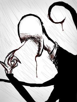 Slenderman By Blondiegurl1129 Creepy Drawings Scary Drawings Scary Art