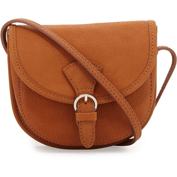 Neiman Marcus Made in Italy Washed Leather Crossbody Bag ( 78) ❤ liked on  Polyvore bc0297dfe4