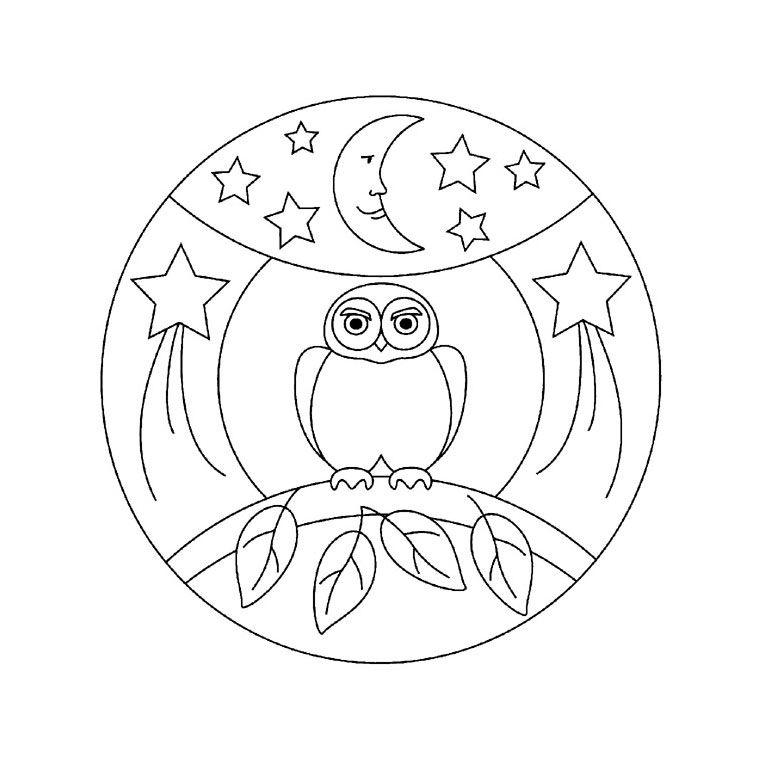Coloriage Mandala Maternelle A Imprimer Gratuit.Coloriage Hibou Maternelle Activit Manuelle Un Hibou