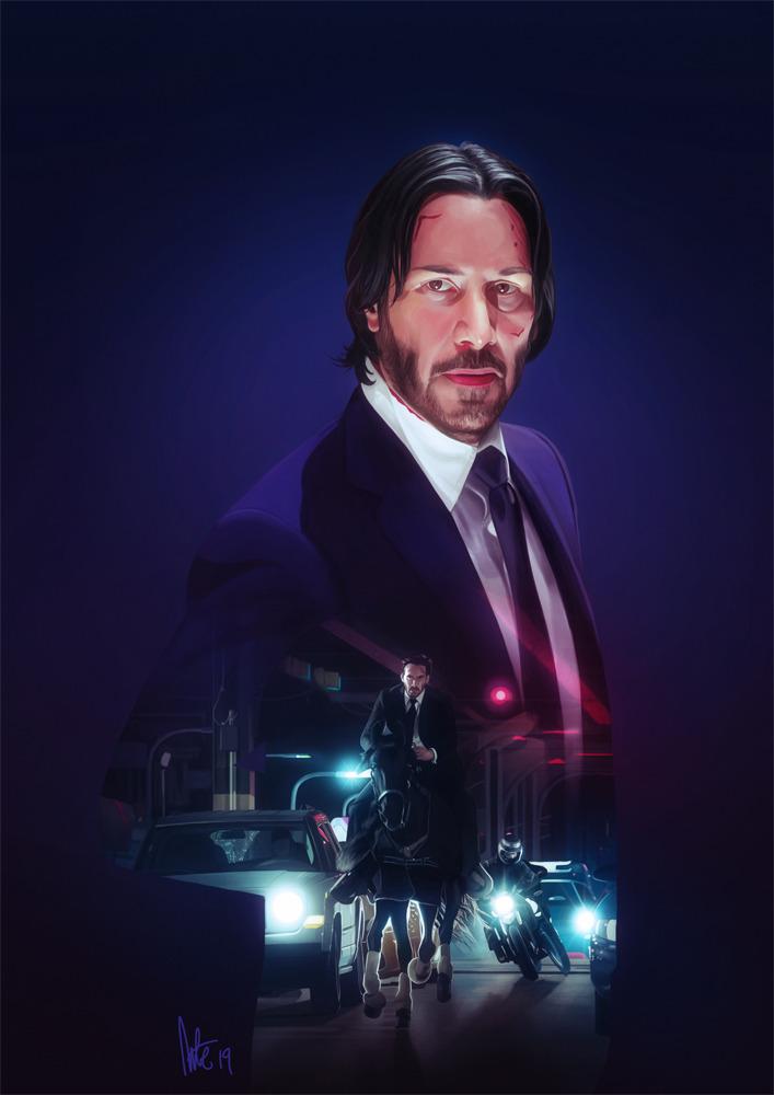 Drawing Keanu Reeves In Movies