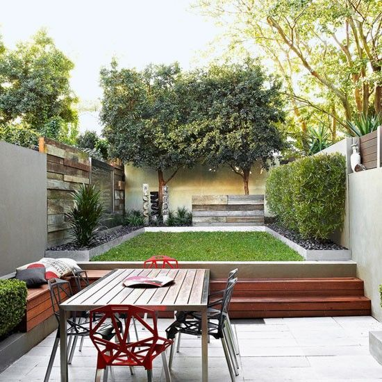 Two-tier garden design | maison | Pinterest | Tiered garden, Gardens ...