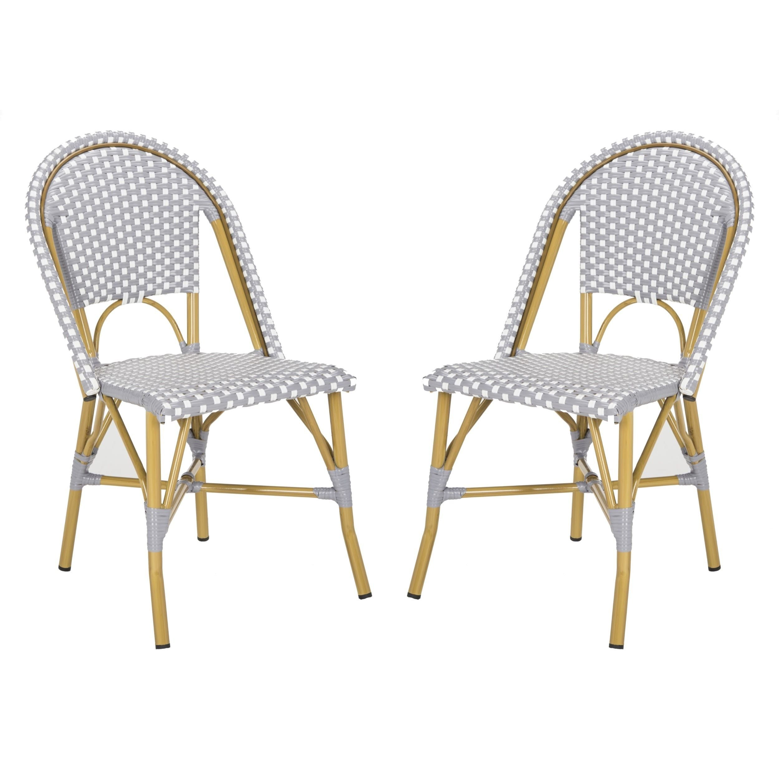 Amazing Safavieh Salcha Indoor Outdoor French Bistro Grey White Camellatalisay Diy Chair Ideas Camellatalisaycom
