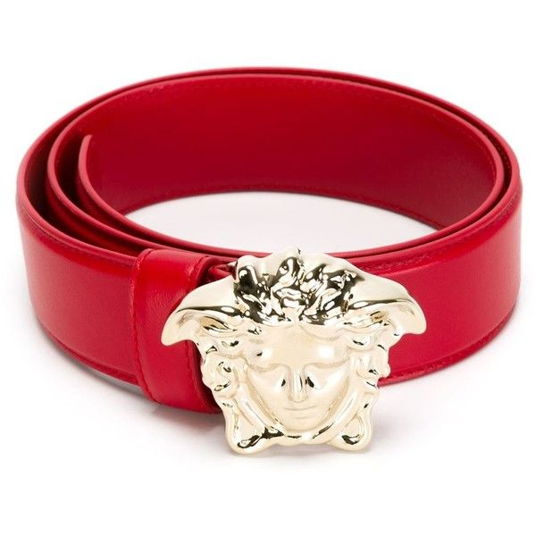 ca0676954269 Versace Medusa belt ( 395) ❤ liked on Polyvore featuring accessories