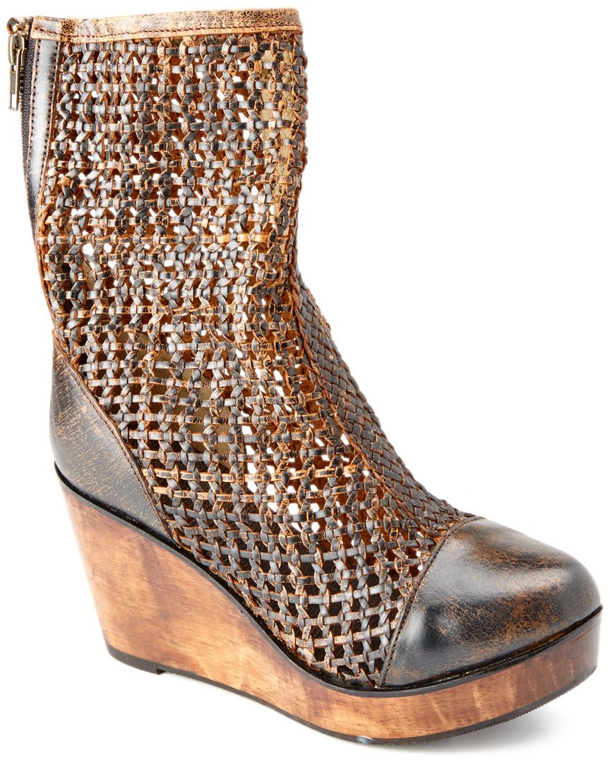 """Bed Stu """"Nevelle"""" Leather Wedge Boot is on Rue. Shop it now."""