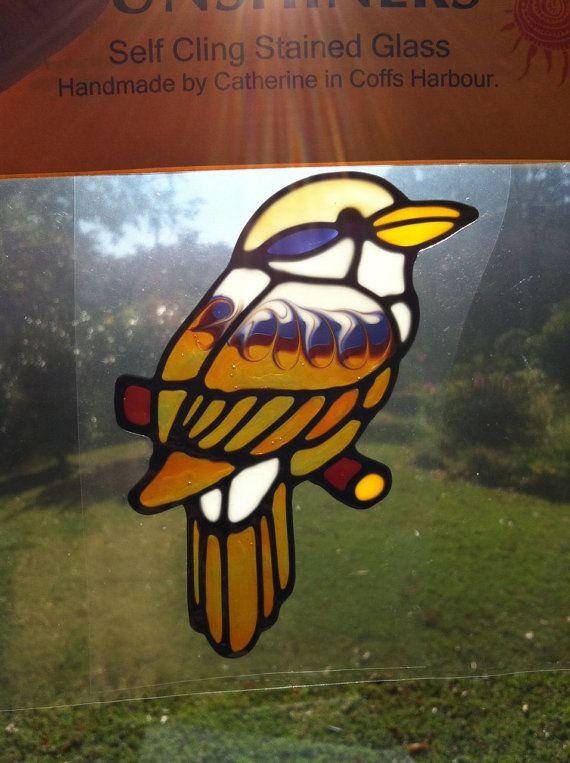 Kookaburra Bird Suncatcher Window Sticker Decal Stained Gl Style Sunshiner