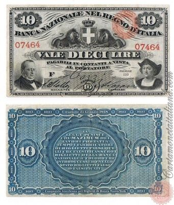 10 LIRE - 1866 1870