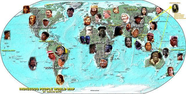 INDIGENOUS PEOPLE WORLD MAP by Carlos Mota   Aboriginal cultures