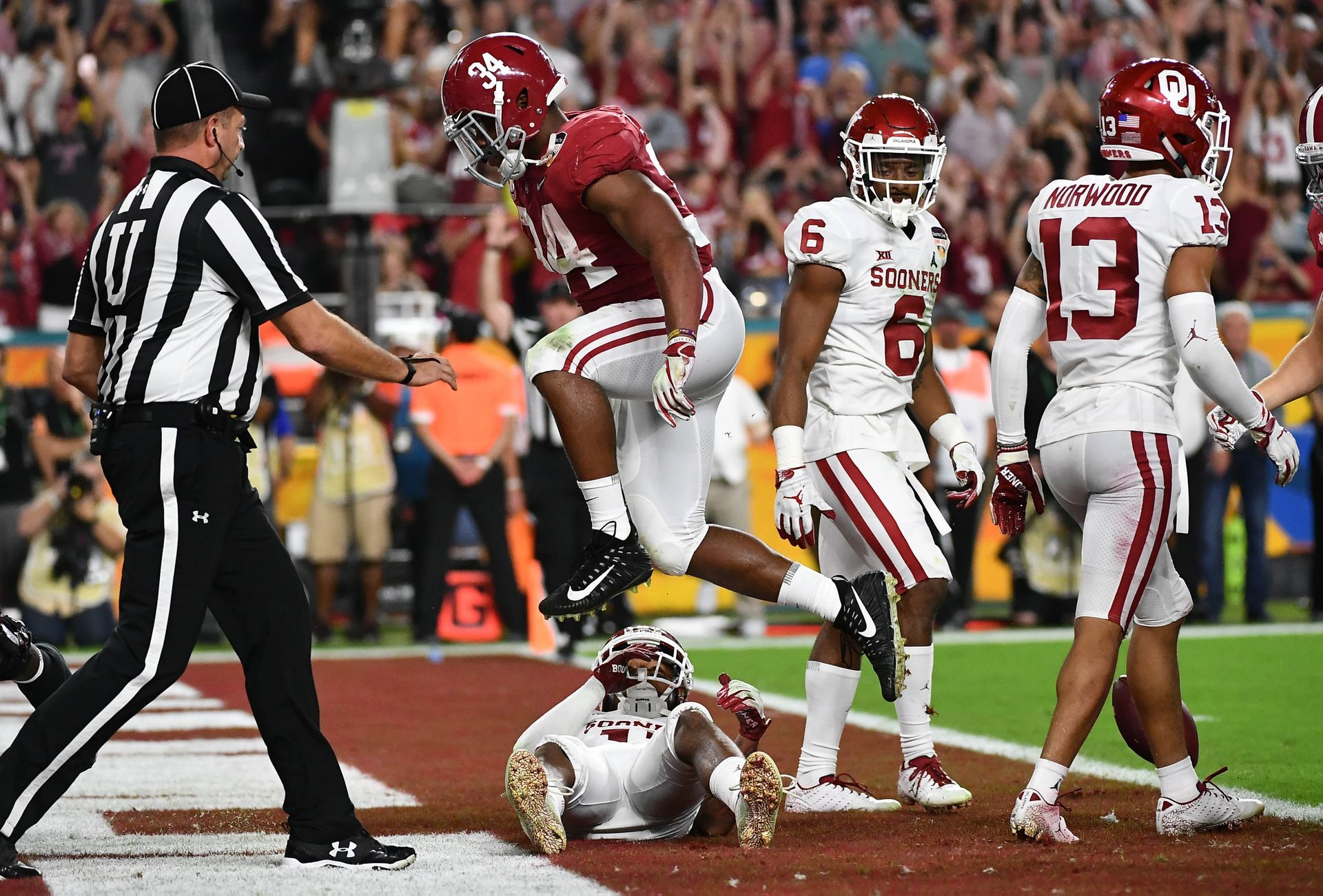 Alabama Returns To Title Game After Beating Oklahoma In Orange Bowl Alabama Football College Football Playoff Alabama Crimson Tide