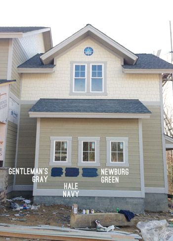 Picking an exterior paint color houses pinterest exterior paint colors hale navy and for Picking house colors for exterior