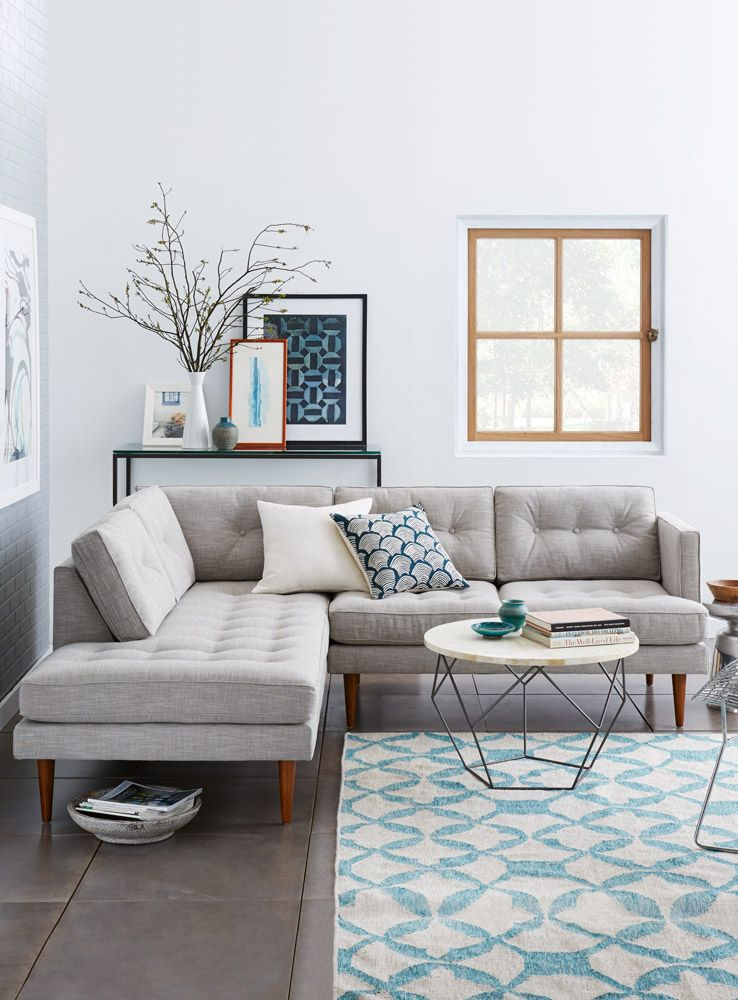 Simplifying the Sectional Sofa | Living room grey, Living ...