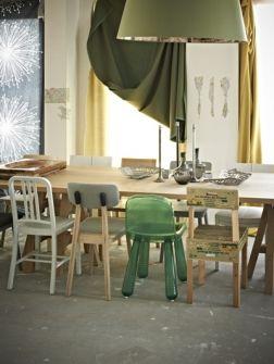 Duurzaam door gebruik te maken van bestaande meubels en materialen voor de inrichting van de ruimte.