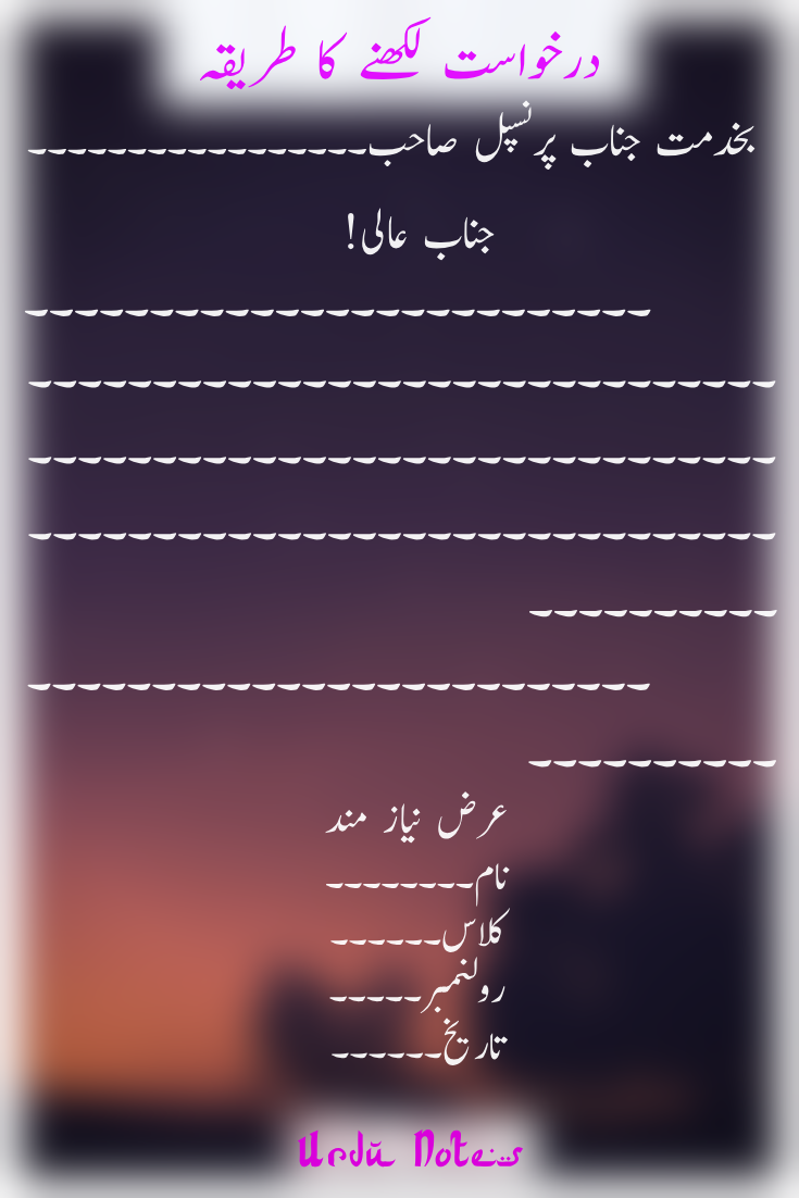 Application Letter In Urdu in 2020 Application writing