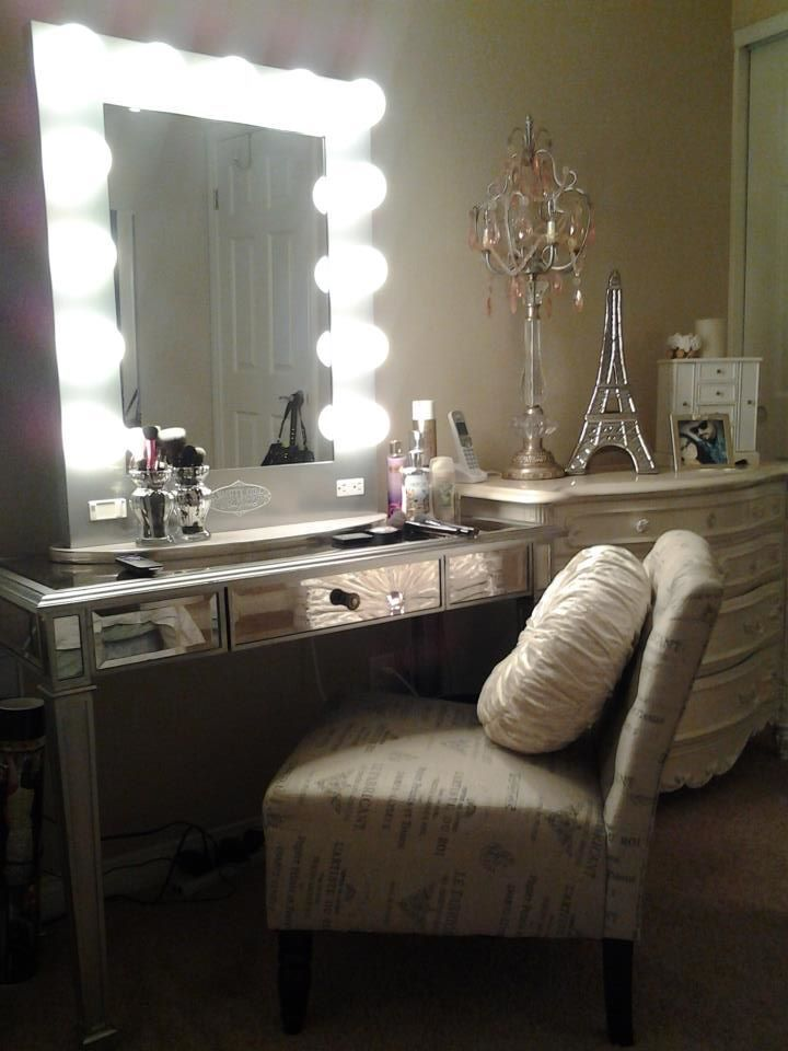 Ideas for making your own vanity mirror with lights diy or buy aloadofball Image collections