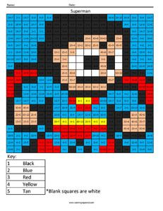 Superhero Multiplication And Division Coloring Squared Family Math Night Superhero Coloring Fun Math