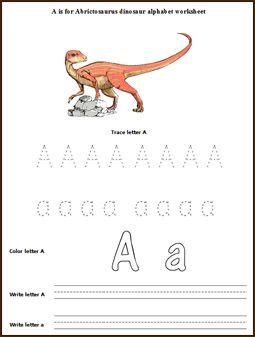 Dinosaur Alphabet Worksheet Dinosaur Alphabet Dinosaur Theme Preschool Alphabet Activities