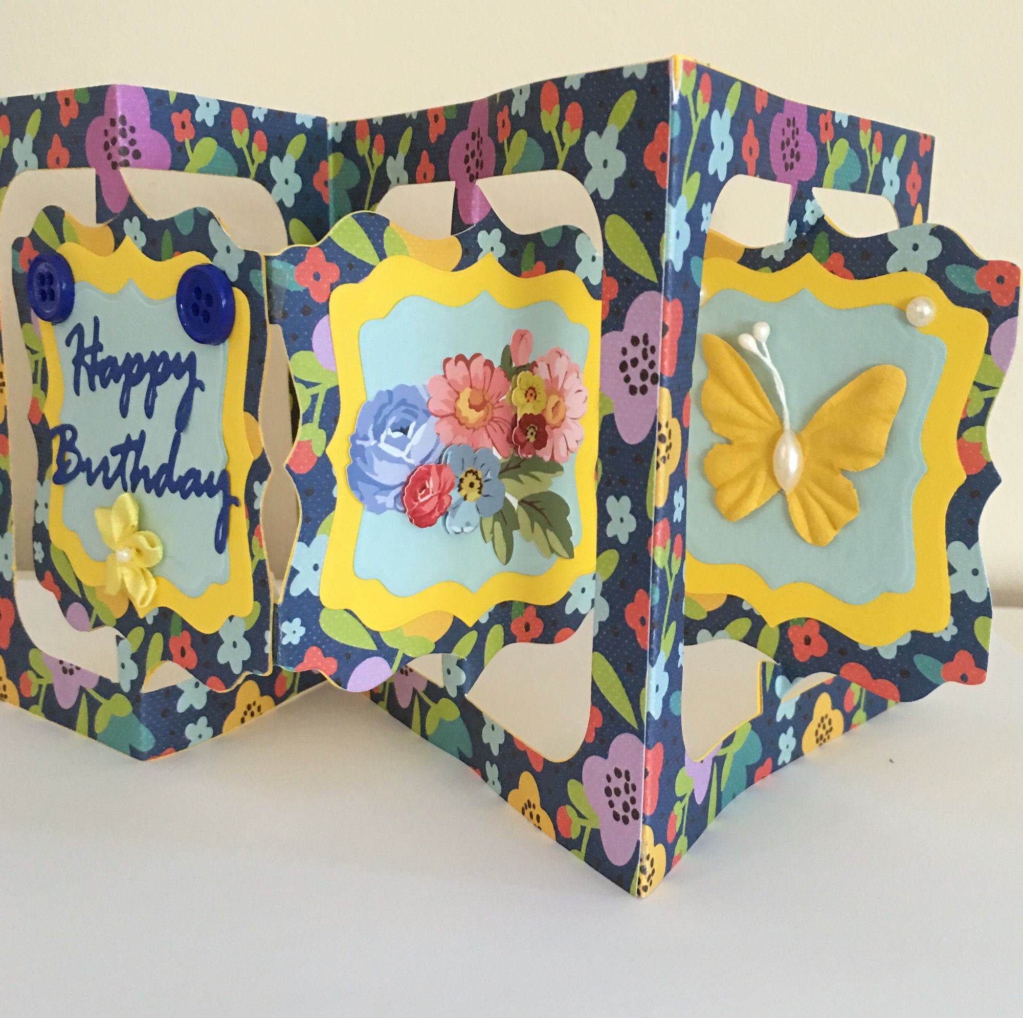 Cby Inside Of Accordion Fold Stand Up Happy Birthday Greeting