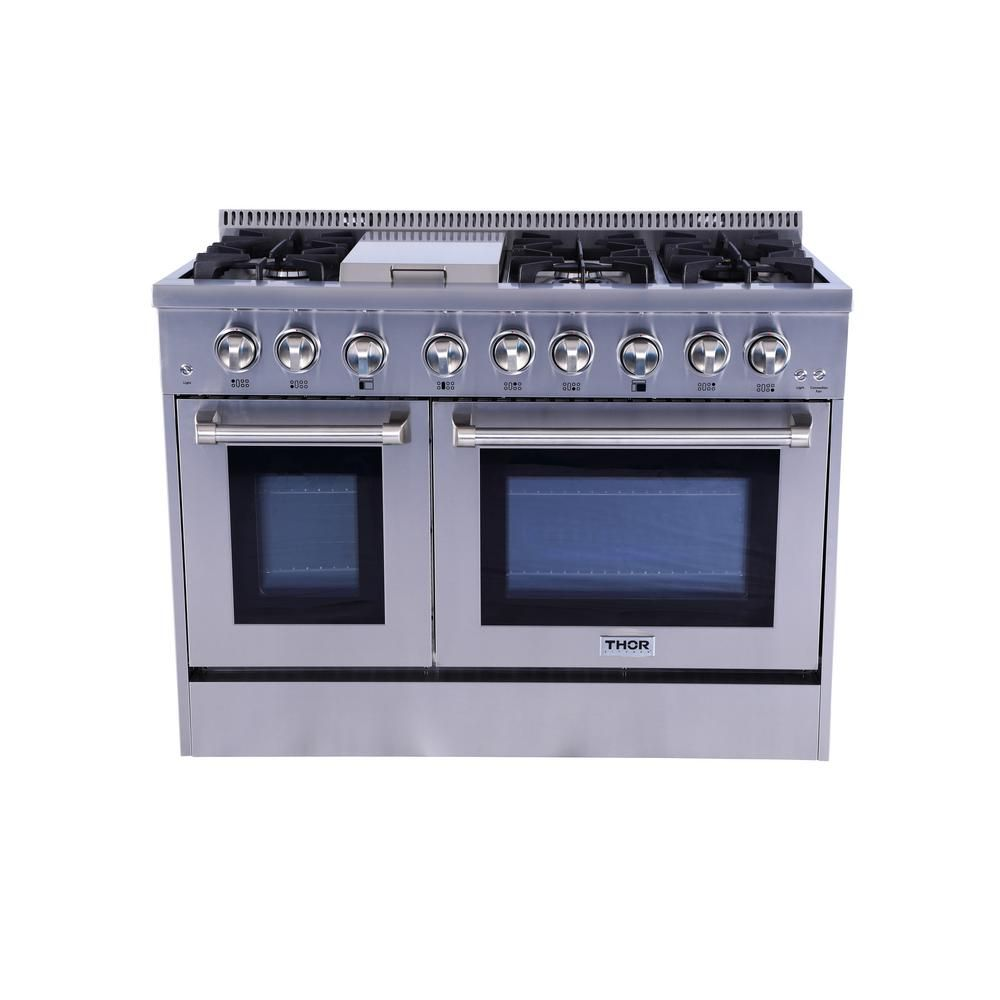 Thor kitchen in cu ft professional gas range in stainless
